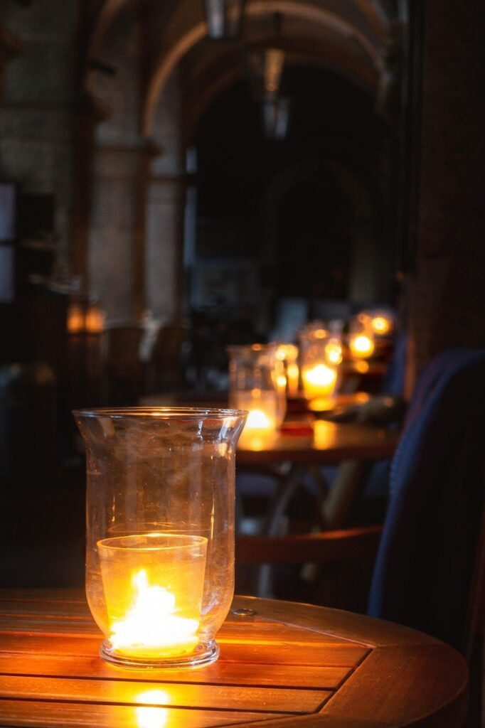 candles, table, mood